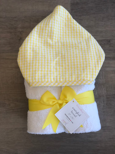 Yellow Check Fabric Everyday Towel