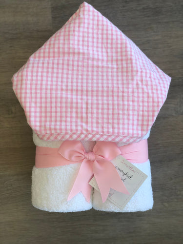 Pink Check Fabric Everyday Towel