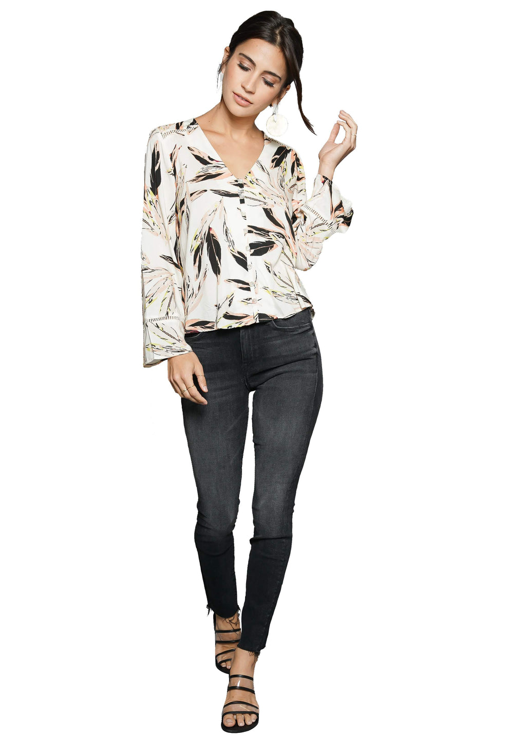 Maven West Button Down L/S Top
