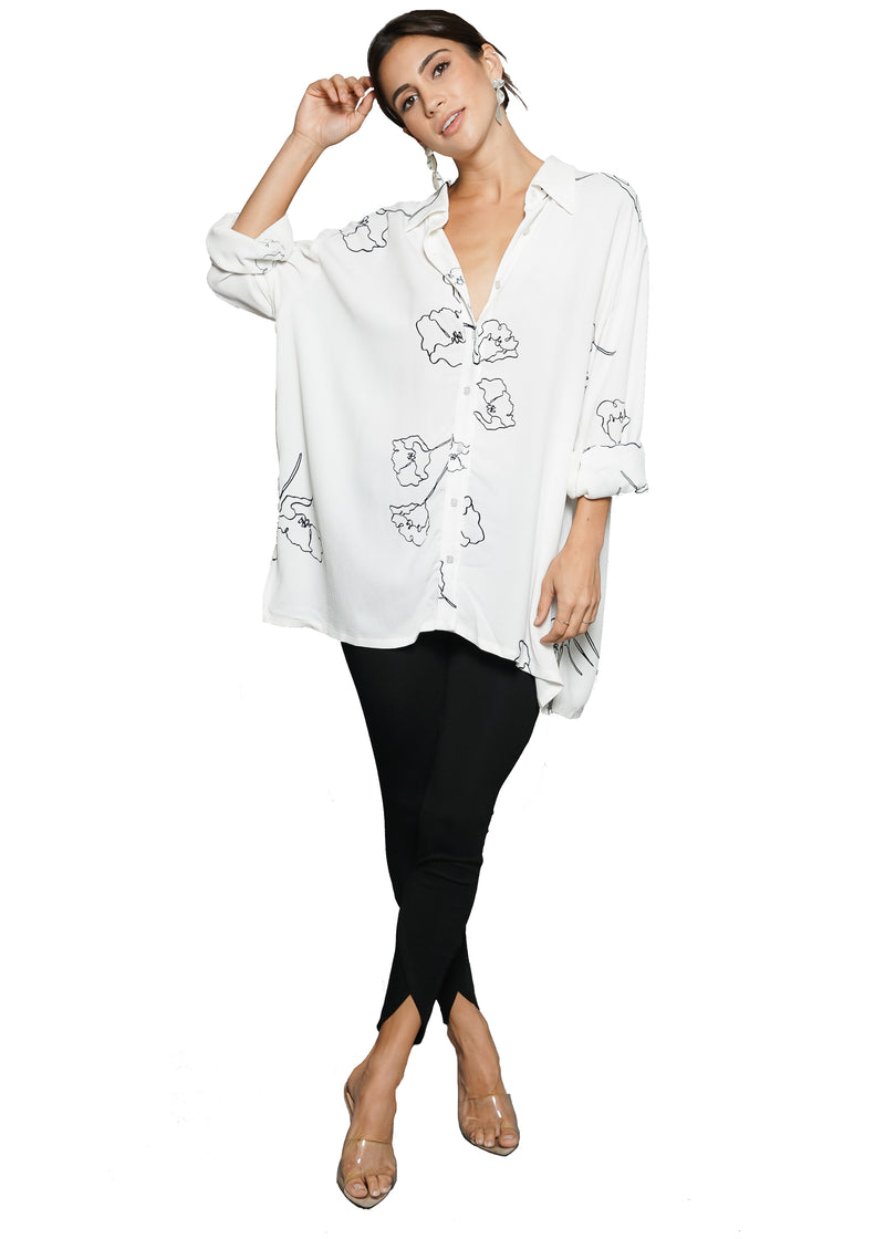 Rachel Pally Crepe Oversized Yara Shirt