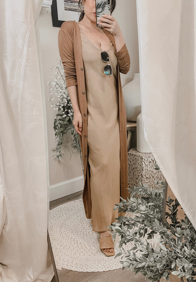 Samantha Eng Button Up Jersey Duster