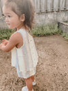 Bella Dahl Girl Smock Neck Romper w/Fray