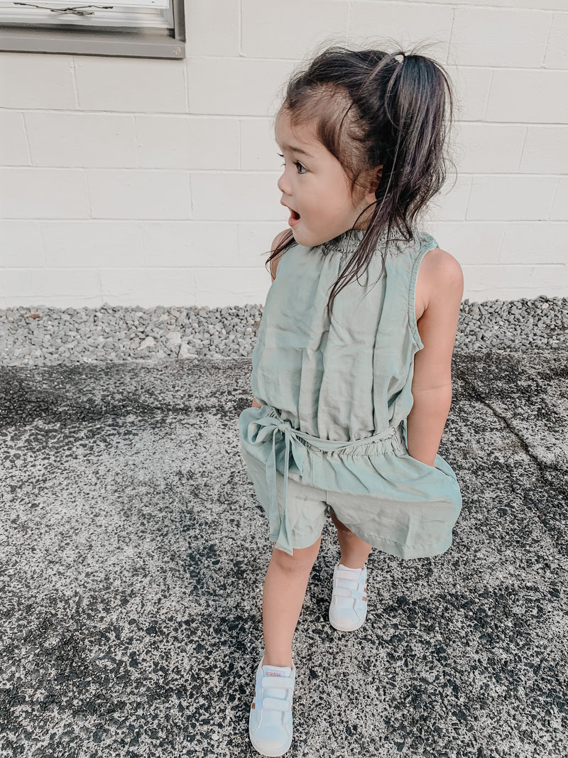 Bella Dahl Girl Smock Neck Romper