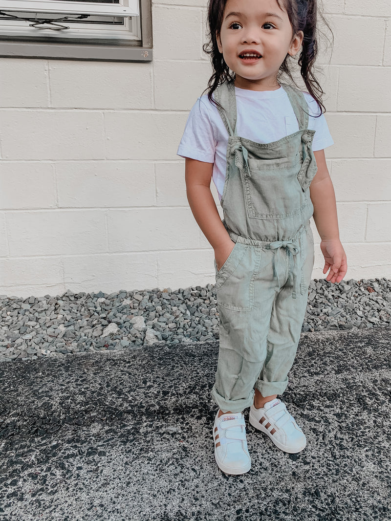Bella Dahl Girl Knotted Overalls