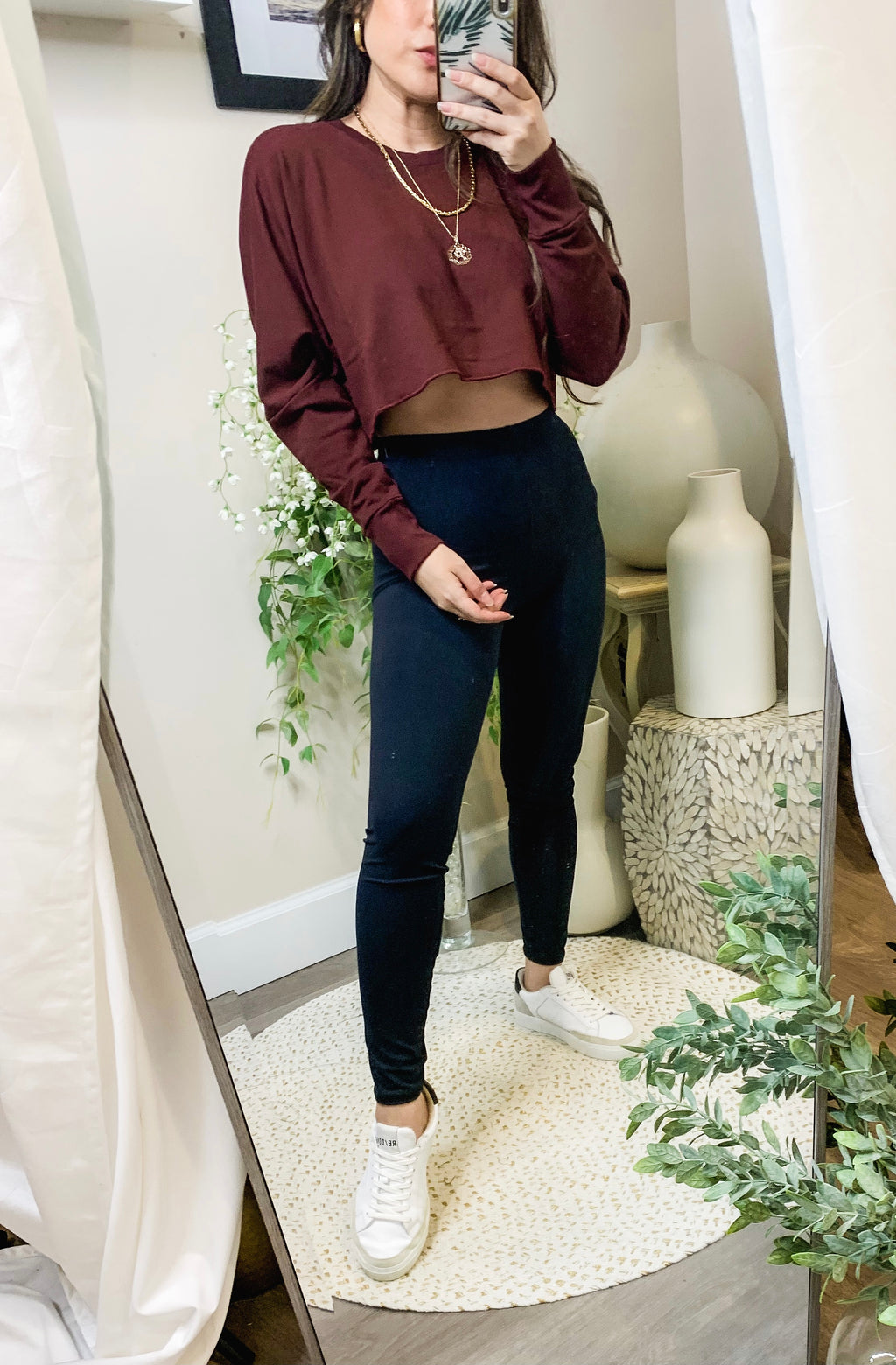 Indah Gnocchi Crop Sweater