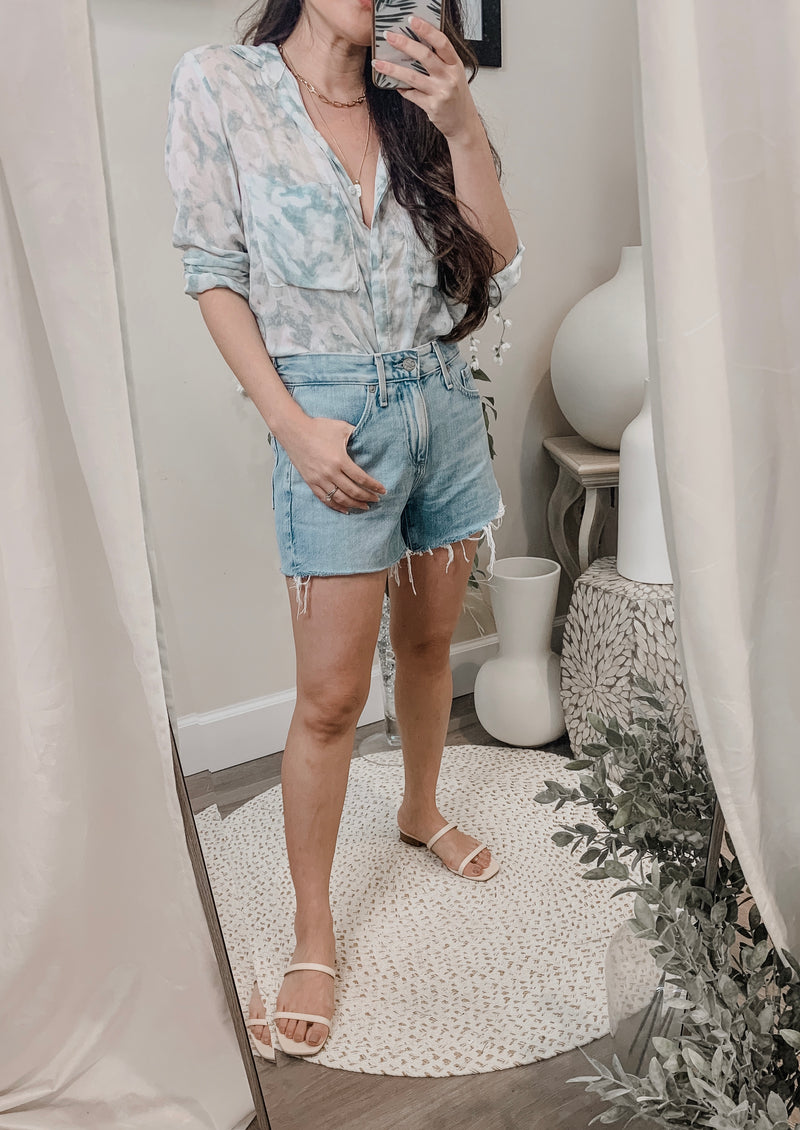 Bella Dahl Full Button Down Hipster Shirt
