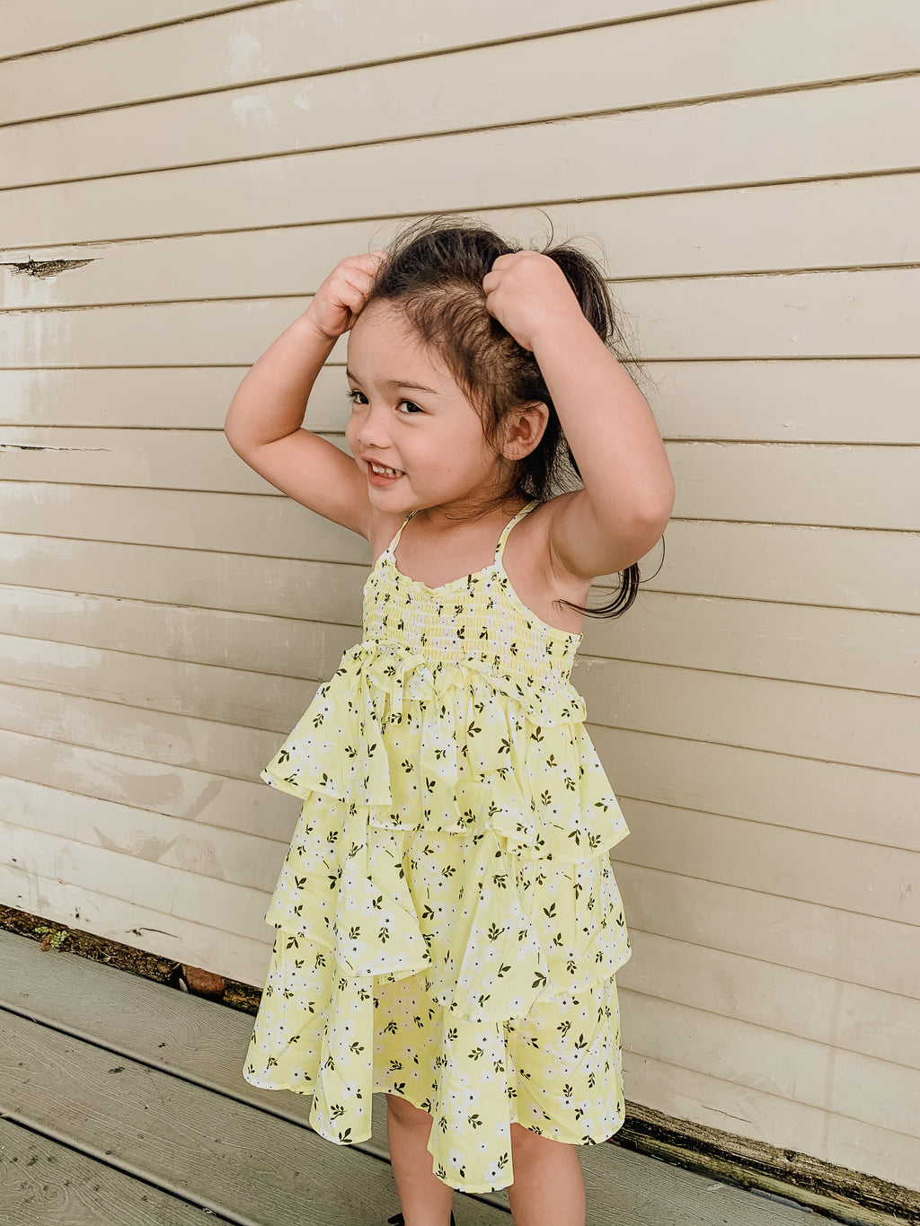 Lil Lemons Sunshine Tiered Dress