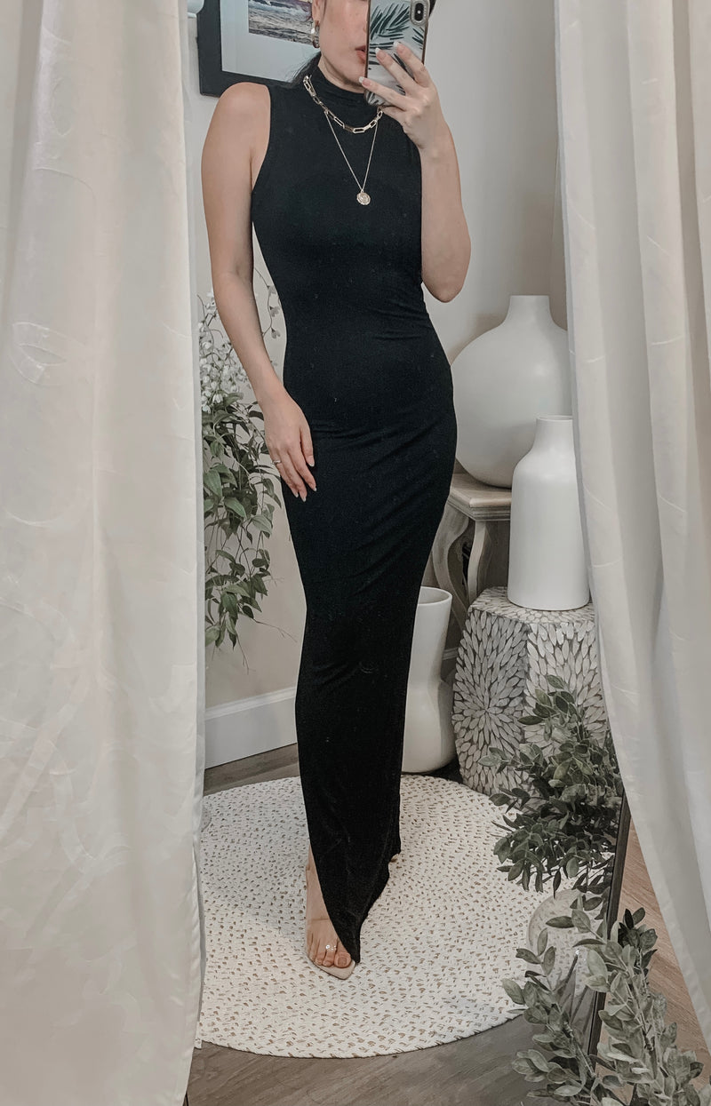 Samantha Eng Sleeveless Turtleneck Maxi Dress