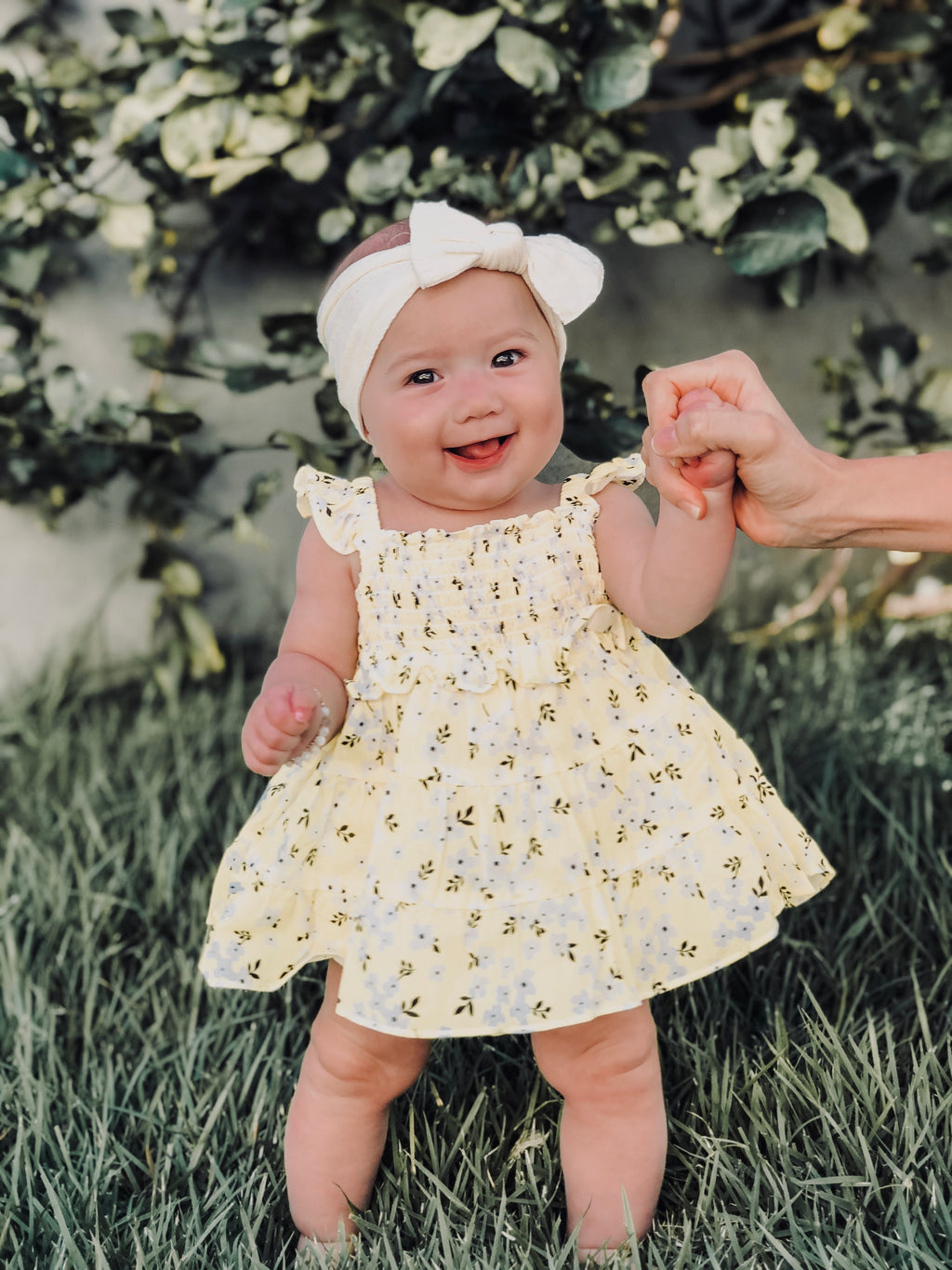 Lil Lemons Sunshine Smocked Dress