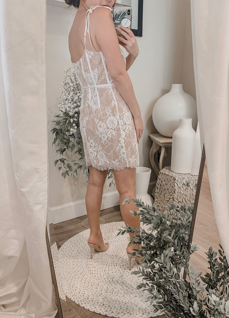 For Love & Lemons Cheyanne Lace Mini Dress