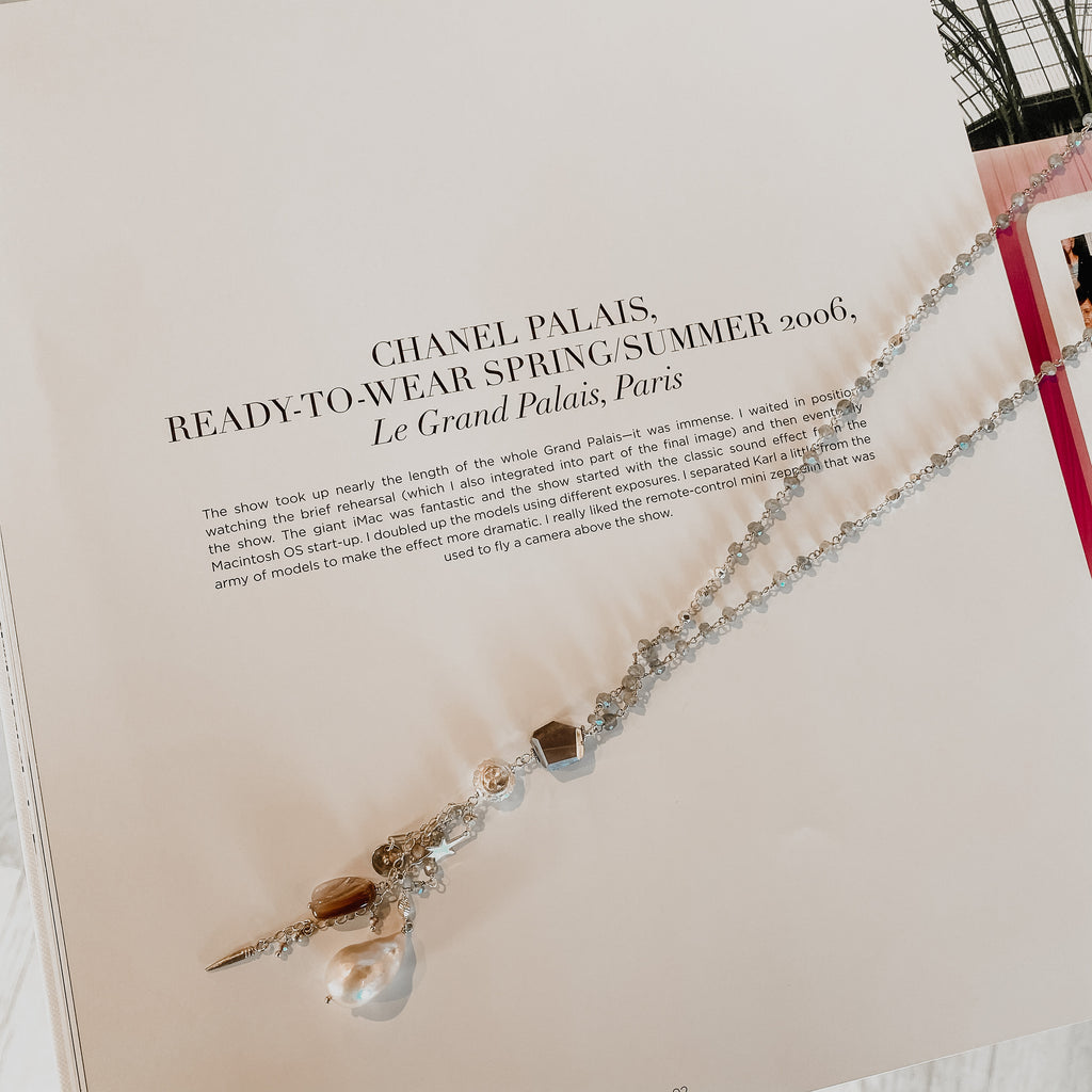 Chan Luu Natural Pink Mix Silver Necklace
