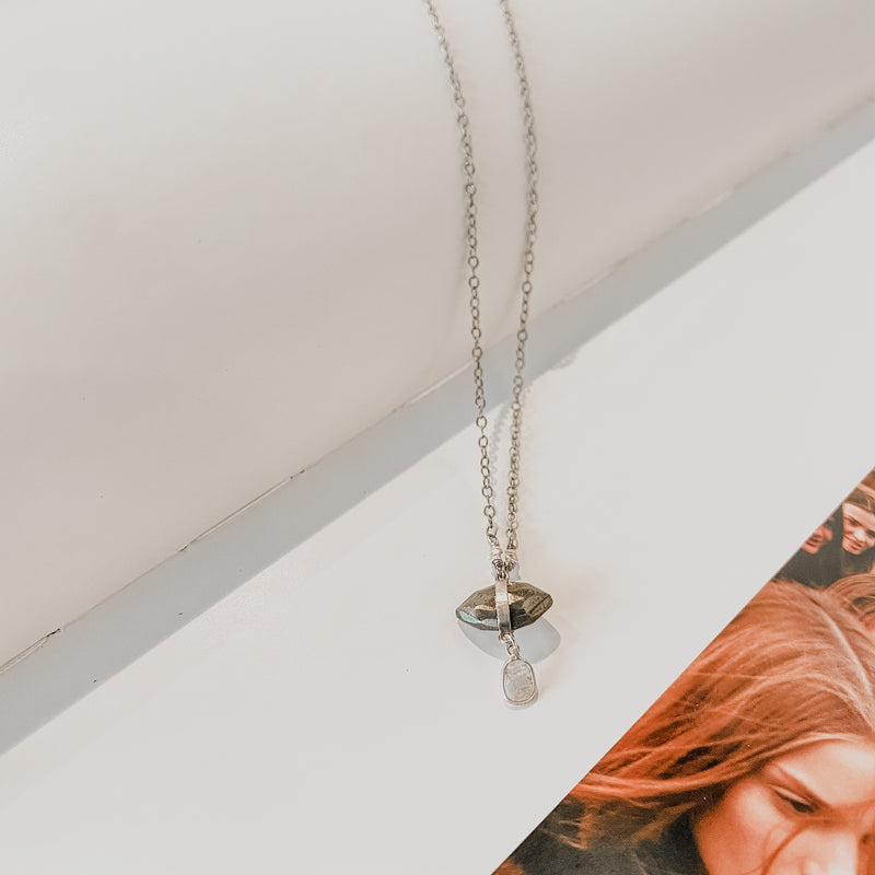 Chan Luu SS Pyrite Chain Necklace
