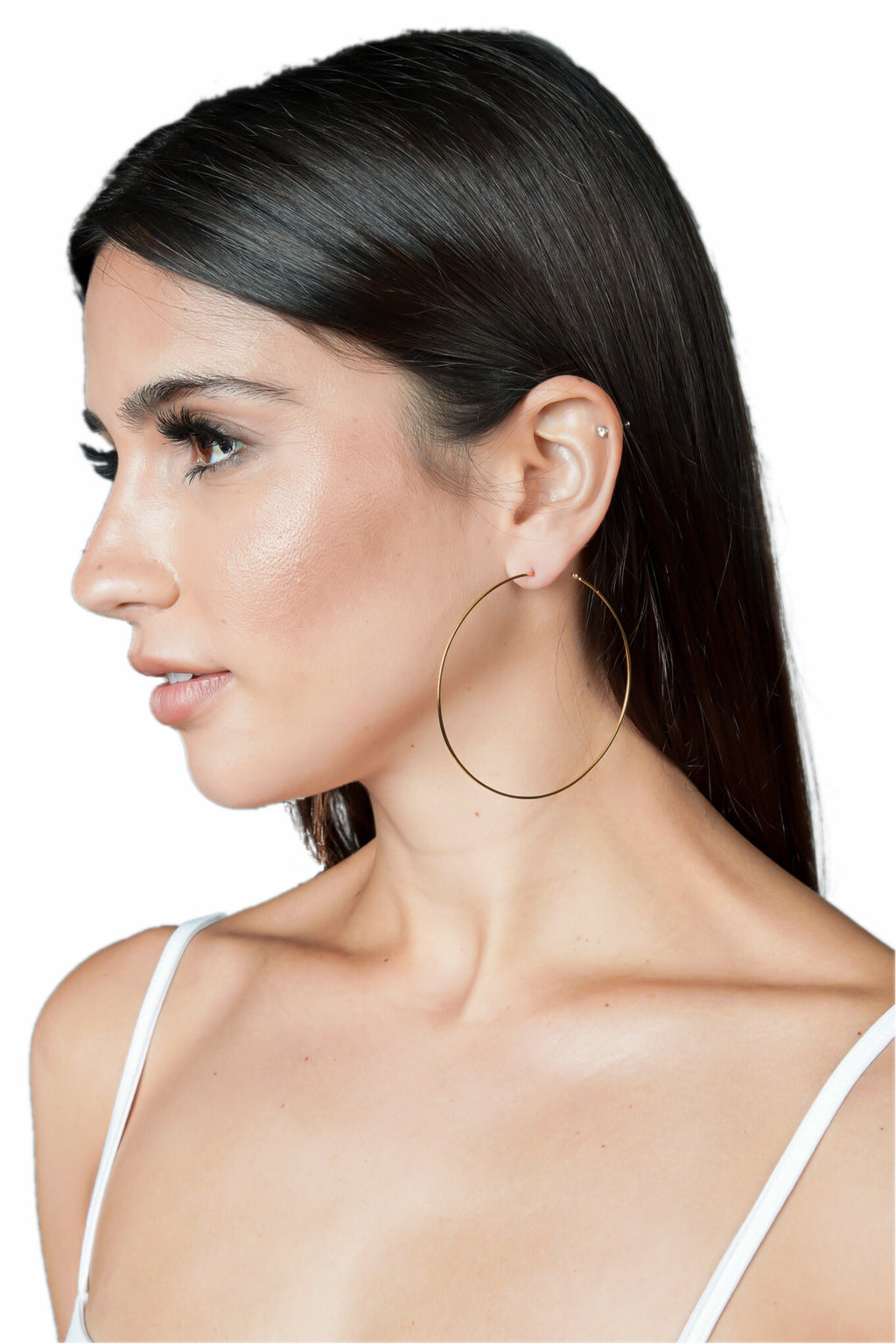 LUV AJ Capri Wire Hoop Earrings