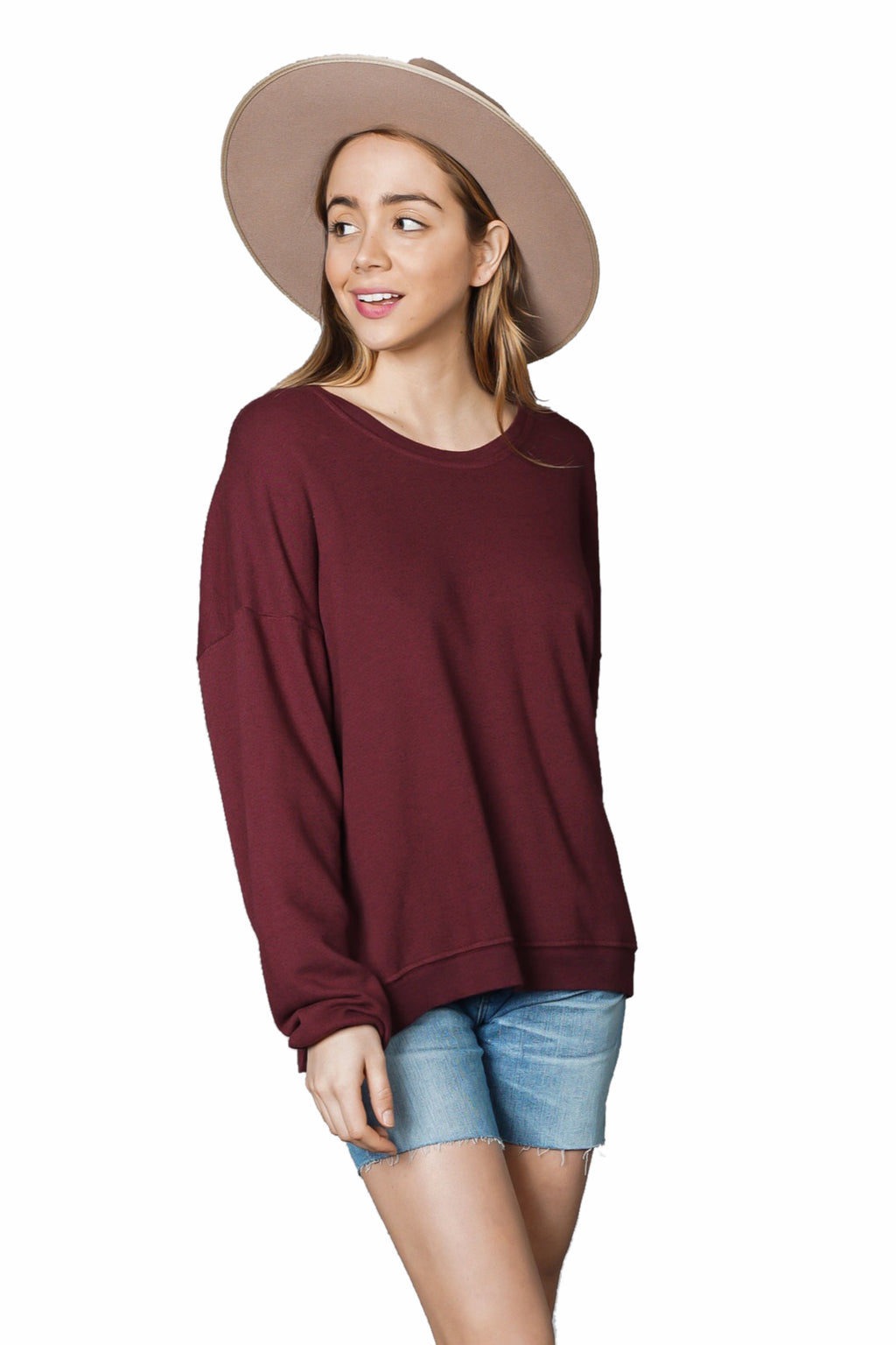 LACAUSA Light Heather Malibu Sweater
