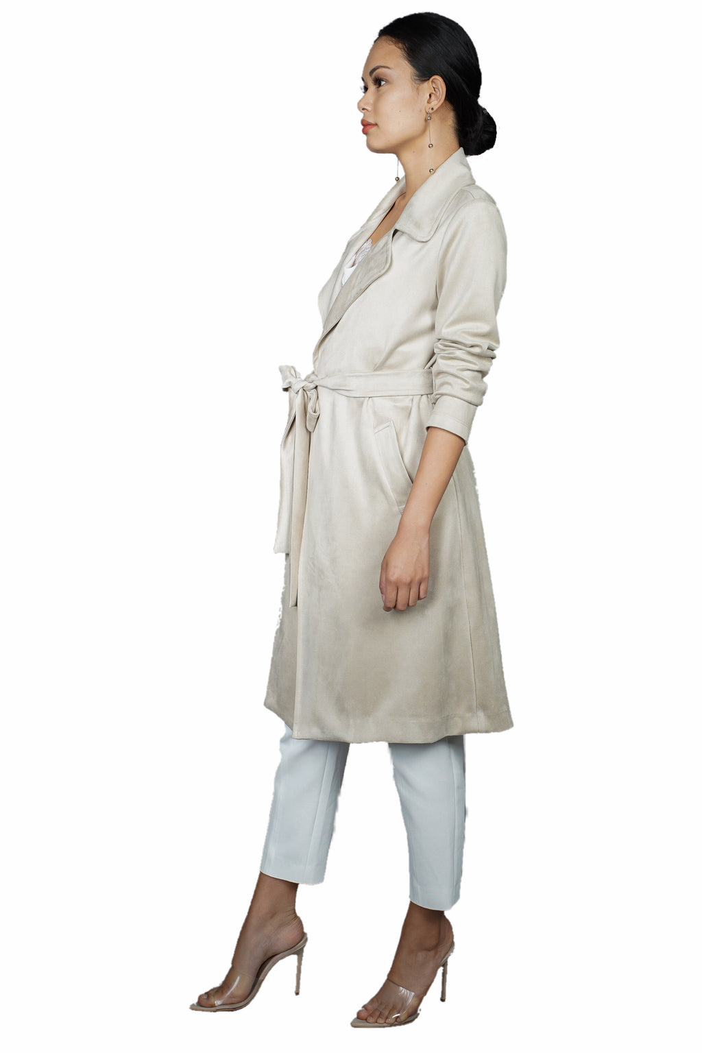 Fifteen Twenty Faux Suede Coat