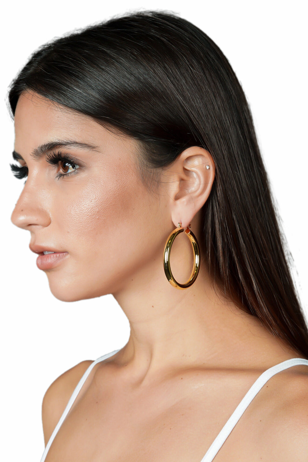 LUV AJ Amalfi Tube Hoop Earrings