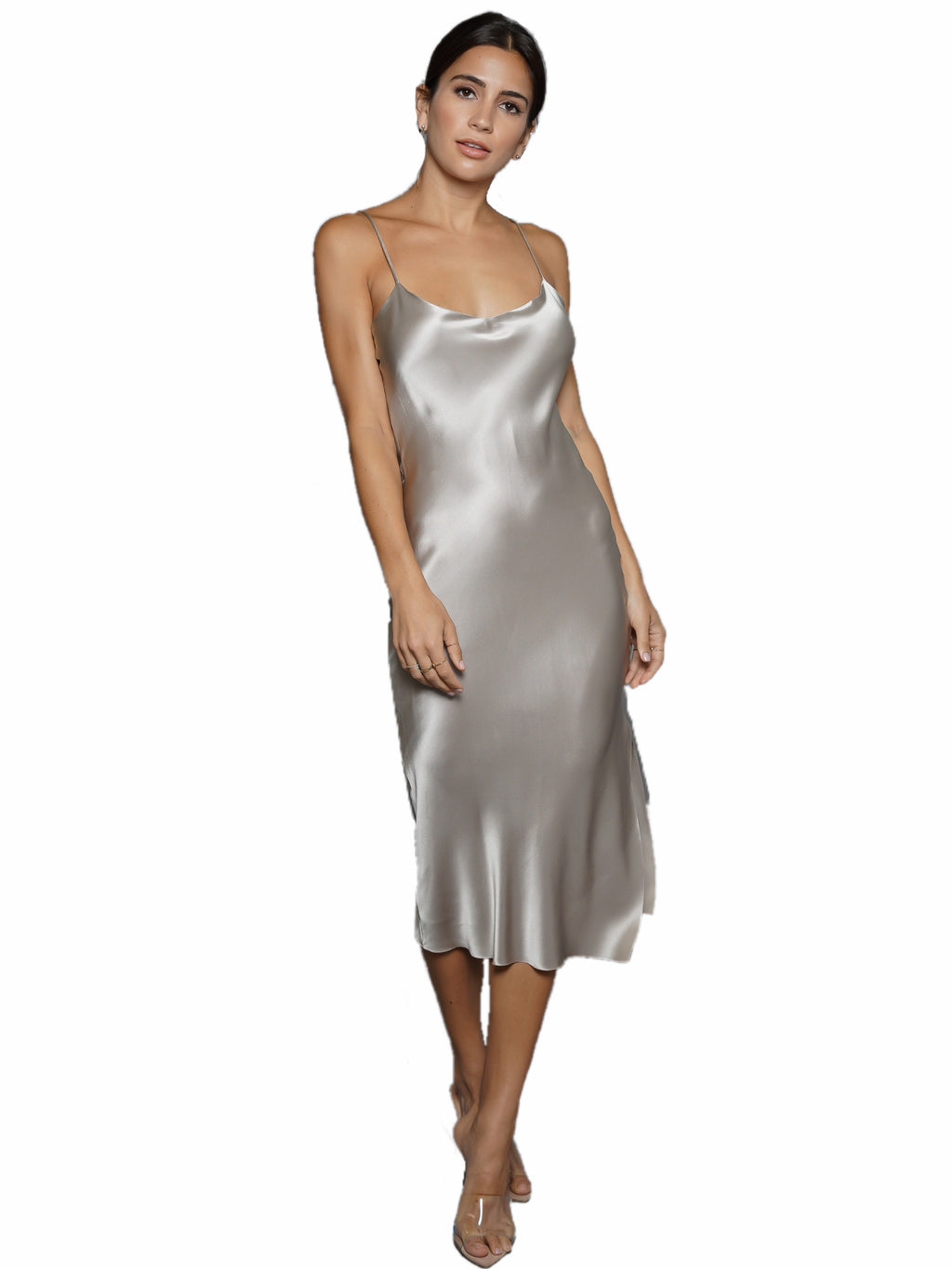 Samantha Eng Silk Charmeuse Slip Dress