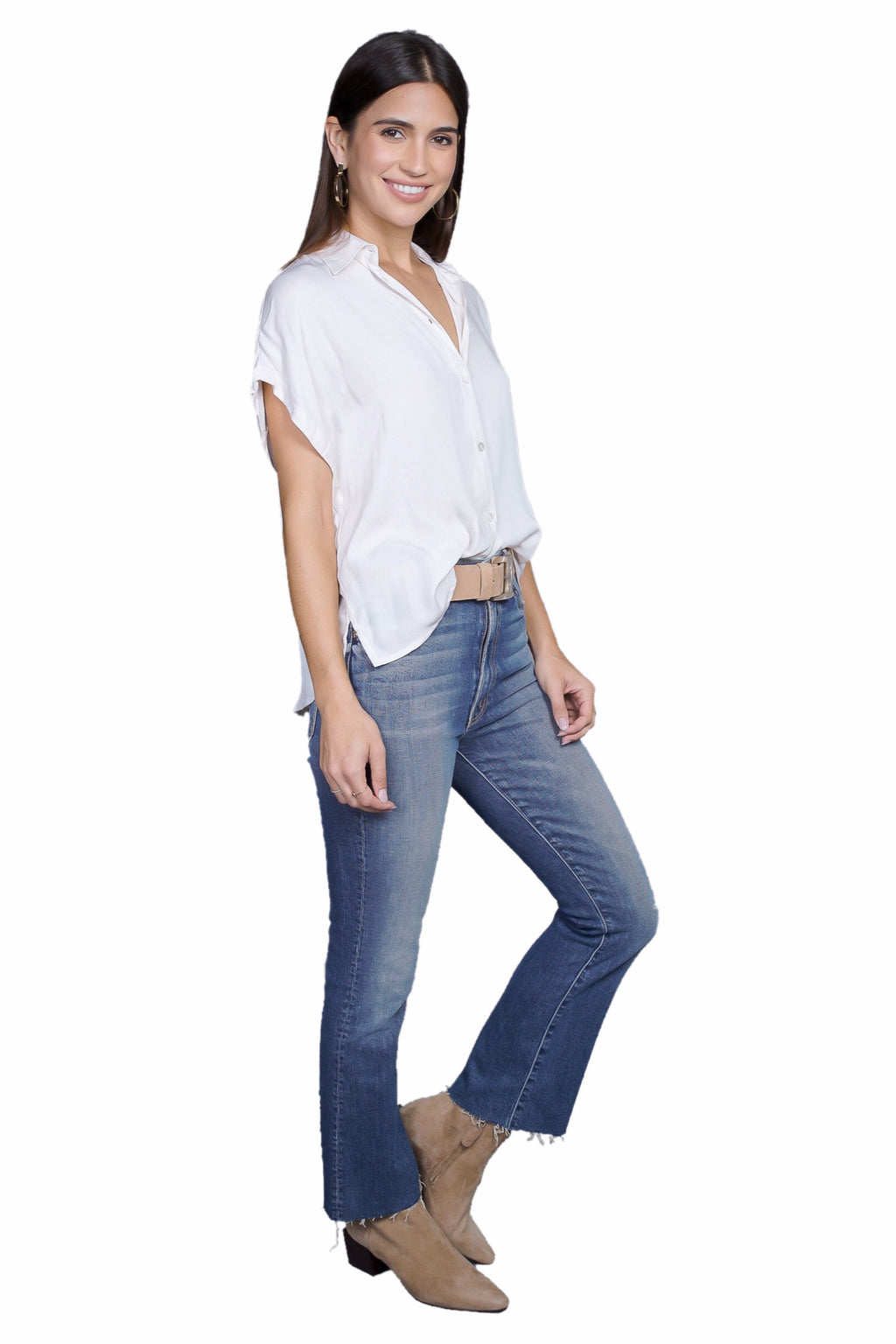 Indah Eliza Button Up Top