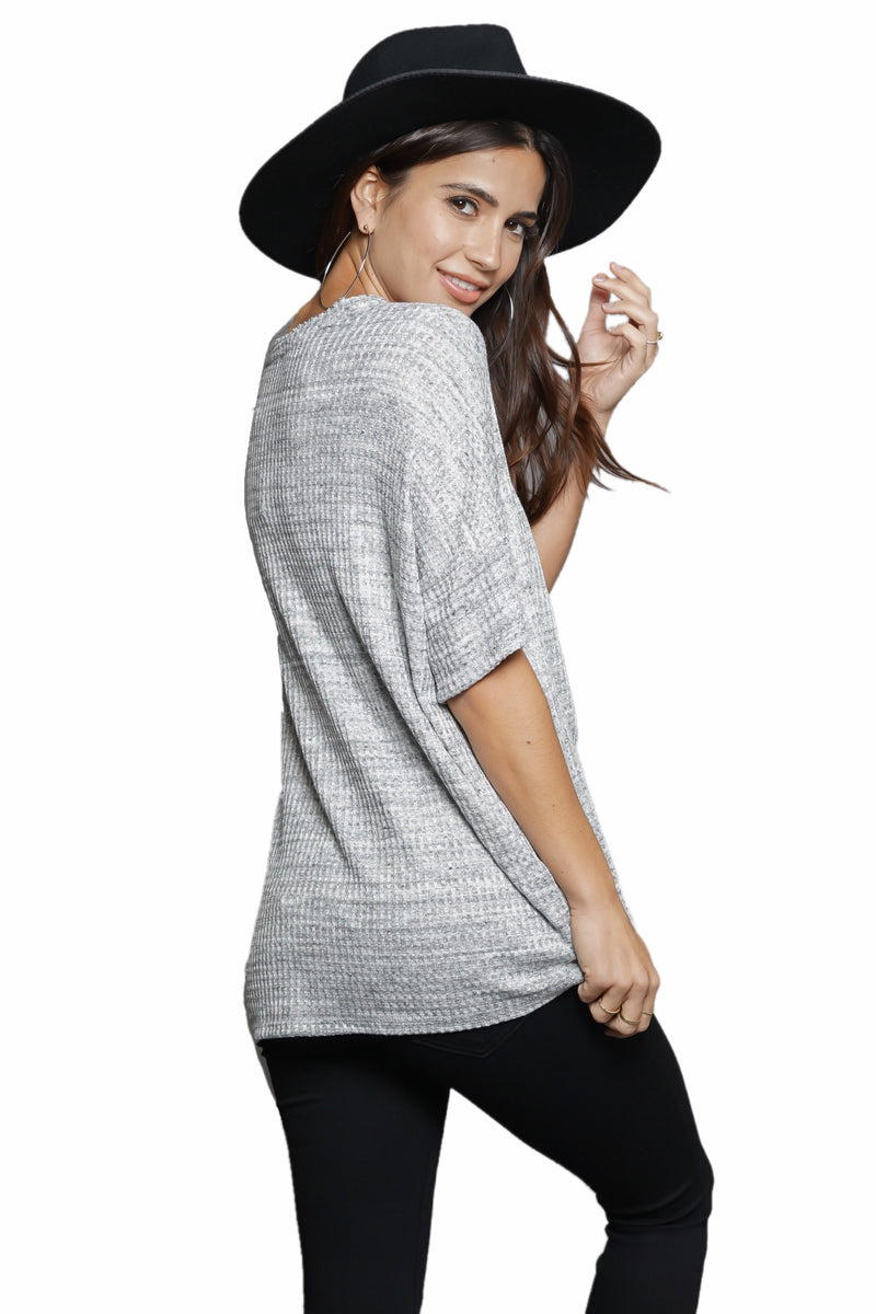 Fifteen Twenty Boxy Textured Tee
