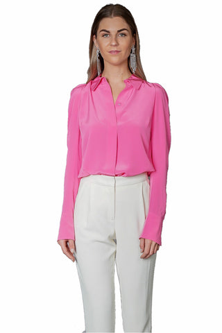 Frame Fitted Notch Collar Shirt