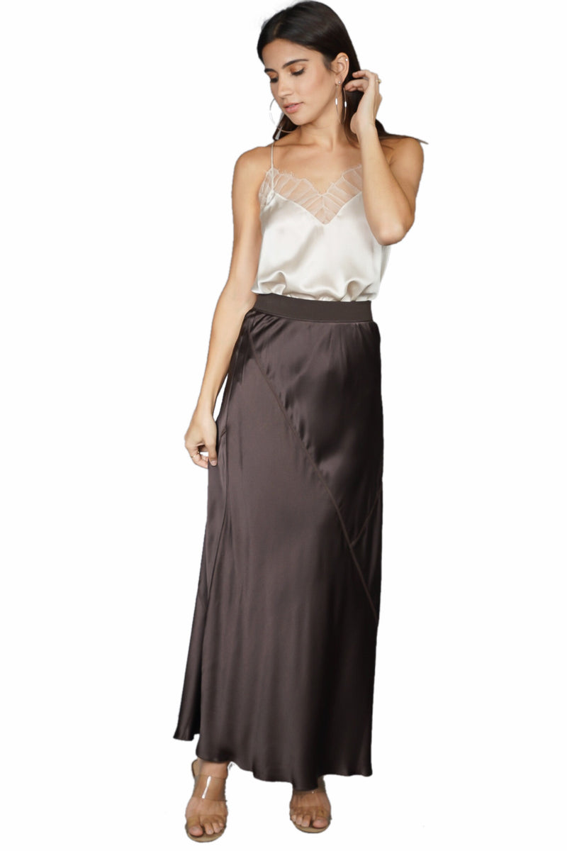 ATM Silk Ankle Length Skirt