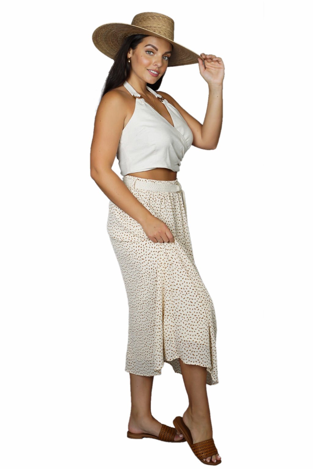 Moon River Midi Skirt w/Belt