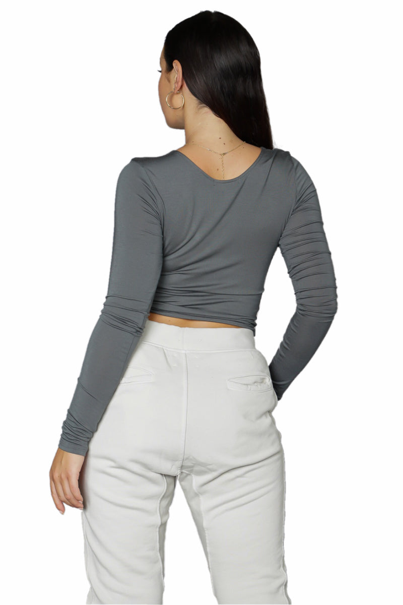 Joah Brown Scoop Neck Long Sleeve Top