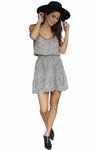 Krisa Handkerchief Hem Ruffle Midi Dress