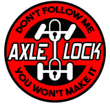 AXLE LOCK Decal