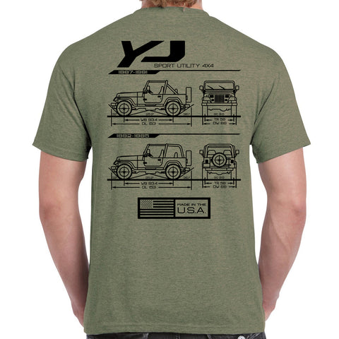 YJ Blueprint T-Shirt