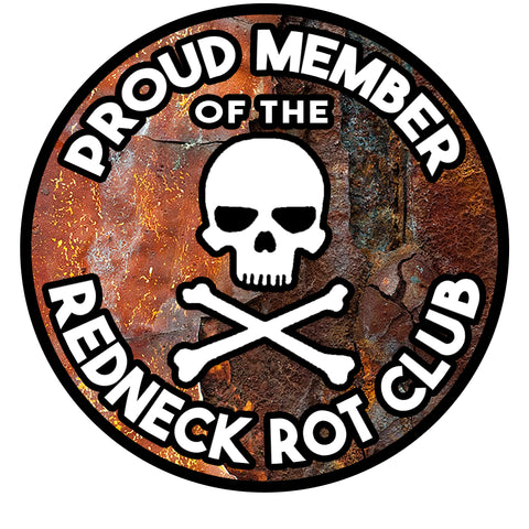 Redneck Rot Club Decal