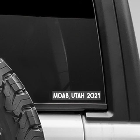 Moab, Utah 2021 Decal