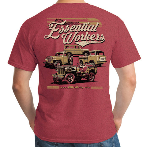 Essential Worker Willys Rally T-shirt