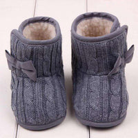 Baby Girls Shoes Bowknot Soft Sole Winter Warm Shoes Boots