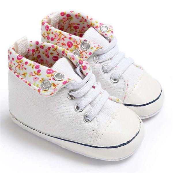 Fashion Baby Boy&Girl Shoes Lace-Up Children Sneakers Baby Infant Shoes Florals Soft Prewalkers First Walkers Bebek Ayakkabi Shopping Bags & Shoes Online