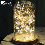 5m 50 LED Copper Wire String Light with Bottle Stopper for Glass Craft Bottle Fairy Valentines Wedding Decoration Lamp Party