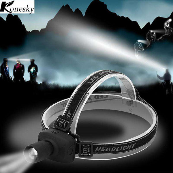 Konesky LED Headlamp White Headlight Camping Fishing Hiking Hunting Riding Head light Cabeza Fog Lamp Flashlight Shopping Lights & Lighting Online
