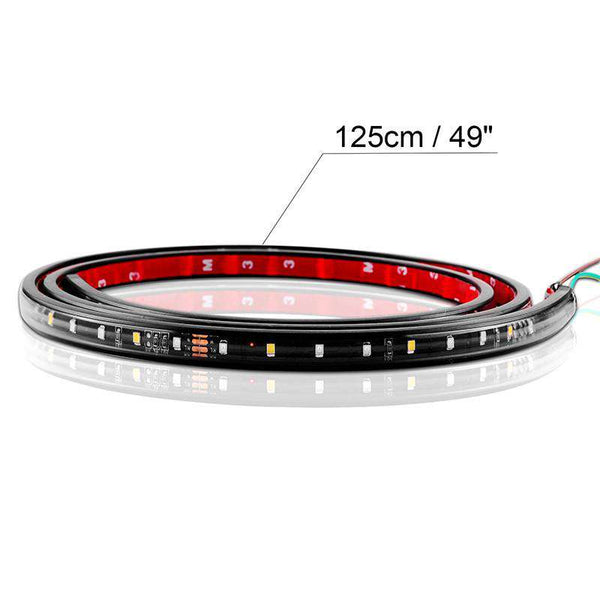 "49"" Flexible Car Truck 72-LED Tailgate Light Bar Running/Brake/Reverse/Signal/Rear Strip Light Lamp SMD Red and White 12V"