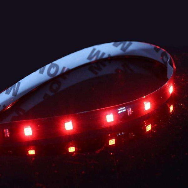 "Decorative Car DRL 30cm/11.8"" 15SMD LED Daytime Running Light Universial Flexible Soft Tube Guide Car Waterproof 12V"