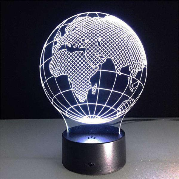 3D Lamp Visual Light Effect Touch Switch & Remote Control Colors Changes Night Light Shopping Lights & Lighting Online