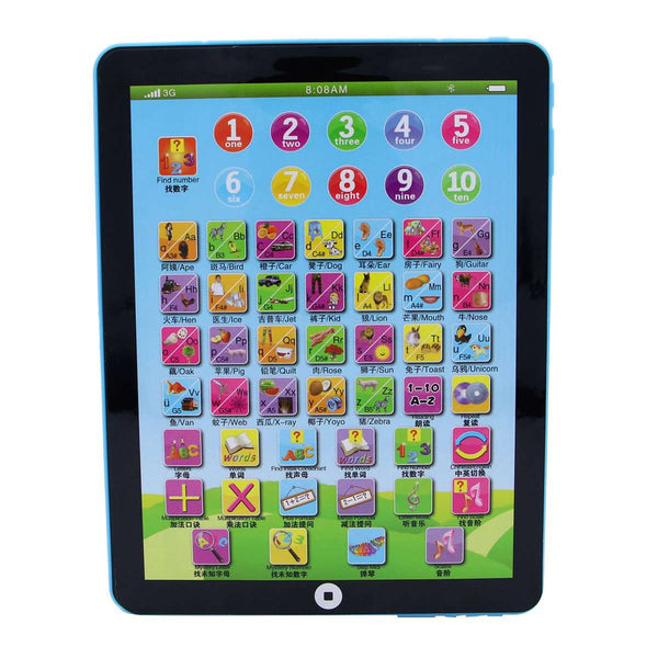 Funny Tablet PC Model Touch Screen Children's Kids English Learning Machine Educational Toy