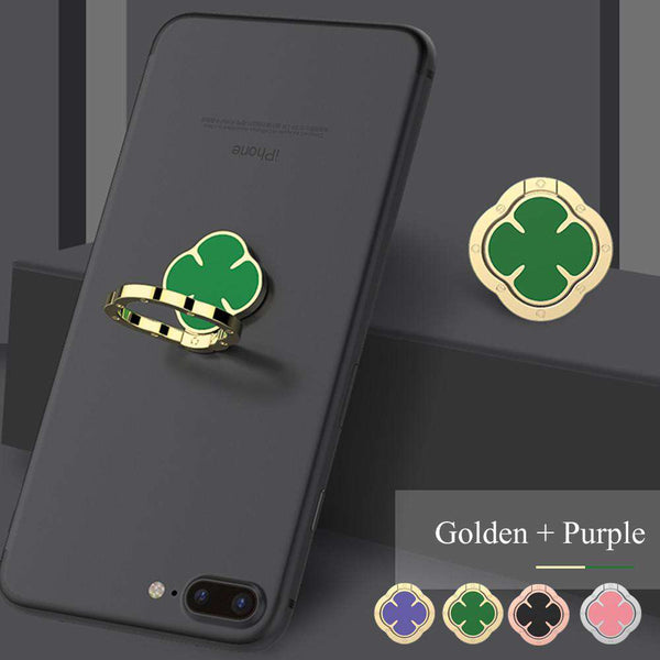 Powstro Four-leaf clover shape finger ring holder 360 degrees rotatable and 180 degrees foldable stand for smartphone Shopping Mobile Phones & Accessories Online