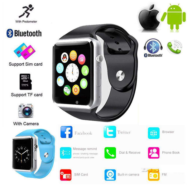 A1 Smart Watch Bluetooth Sports Gsm Phone Mate Smart Wristwatch For Android Shopping Jewelry and Watch Online
