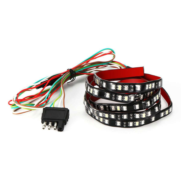 "AOZBZ 49"" Car Truck 72-LED Tailgate Light Bar Running Brake Reverse Signal Rear Strip Light Lamp Flexible SMD Red and White 12V Shopping Automobiles & Motorcycles Online"