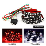 "AOZBZ 49"" Car Truck 72-LED Tailgate Light Bar Running Brake Reverse Signal Rear Strip Light Lamp Flexible SMD Red and White 12V"
