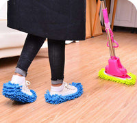 The chenille shoes the lazy man cleans the floor mop mop top.Assorted Mop Slippers