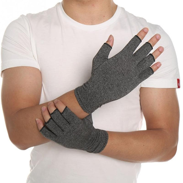 Women Men Cotton Elastic Hand Arthritis Joint Pain Relief Gloves Therapy Open Fingers Compression Gloves Shopping Last Products Online