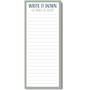 Write It Down Go Back To Sleep Notepad