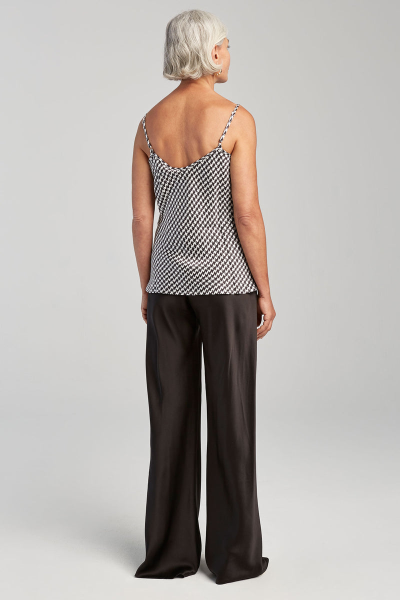 BIAS CUT CAMI HOUNDSTOOTH