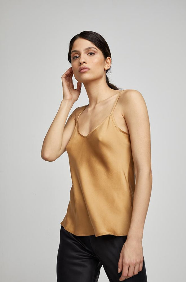 BIAS CUT CAMI CAMEL